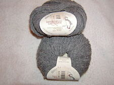 2 SKEINS - Simply Shetland - Lambswool & Cashmere. Color #08 Flannel- 272 yards