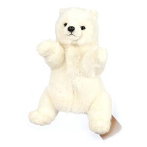HANSA POLAR BEAR PUPPET REALISTIC CUTE SOFT ANIMAL PLUSH TOY 34cm **NEW**
