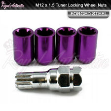 Purple Tuner Locking Wheel Nuts 12x1.5 Toyota Corolla Starlet Celica Supra Rav4