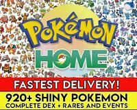 Pokemon Home ALL 920 SHINY Full Living Dex All Gen 1-7 Pokedex FASTEST DELIVERY!