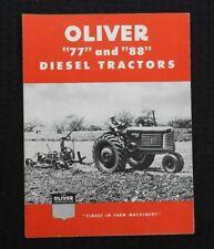 "1950 ""THE OLIVER 77 & 88 DIESEL TRACTOR"" SALES BROCHURE VERY NICE SHAPE"
