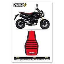 2013-2015 HONDA Grom MSX 125 Black/Red/Black RIBBED SEAT COVER BY Enjoy MFG