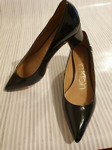 Calvin Klein Black Shoes with heel size 4 uk Brand New
