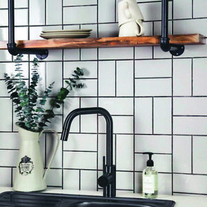 SAMPLE £12.89m2 10x20Victorian Metro Flat Brick White Polished Ceramic Wall Tile