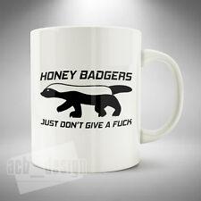 Honey Badger Mug / Cup Coffee Tea Funny Crazy Fearless Animal Ratel Mustelidae