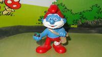 Smurfs Movie Papa Smurf 3D Motion Picture Rare Original Vintage Figurine