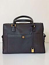 Loro Piana Black Pebbled Leather Dual Handle Satchel Handbag Neiman Marcus