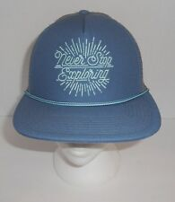 0d530a69273 The North Face Youth Cross Stitch Trucker Hat Blue Grey Never Stop  Exploring New