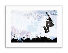 Pintura Abstracta Cartel De Aire De Salto De Skate Sport Lona Arte de la Ilustración