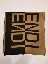 Genuine FENDI vintage Camel / Brown  100% wool winter scarf Scarves