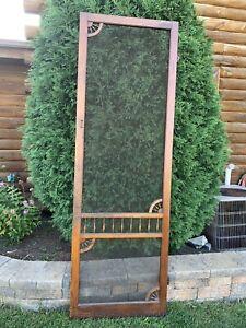 Vintage Victorian Wooden Tall Screen Door