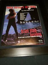 Brian May Business Rare Original Radio Promo Poster Ad Framed! #4