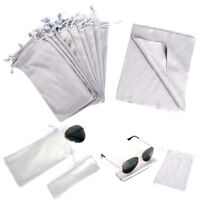 Sunglasses Glasses Eyewear Pouch Soft Carry Case Bag drawstring+ Cleaning Cl.QA