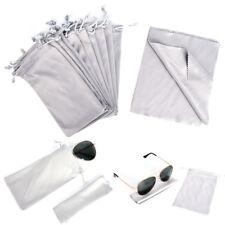 Sonnenbrillen Brillen Brillenetui Soft Carry Case Tasche Kordel+Reinigungstuc ST