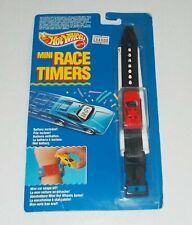 Hot Wheels MINI RACE TIMERS Orologio watch - NUOVO Mattel 1990 auto rossa