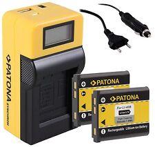 2x Patona Akku BATTERY + LCD Ladegerät für Fuji Fujifilm XP60 / NP-45 NP-45A