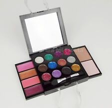 Girls Makeup Kit Set Glitter Eyeshadows Lipgloss Blush Applicator
