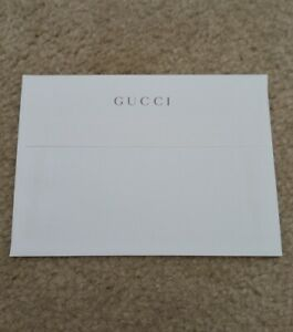 GUCCI envelope for greeting card gift sleeve logo white ivory letter new mail nr