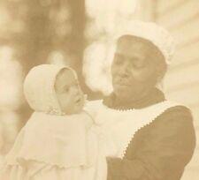 süße c1880 afroamerikanischen schwarz nanny haus diener antik foto