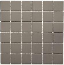 Mosaïque Carrelage céramique gris non vitré cuisine 14B-0204-R10_f | 10 plaques