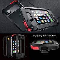 Heavy Duty Gorilla Glass Aluminum Metal Cover Case For iPhone 4/4S 5/5C 6S Plus