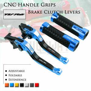 Adjust Folding Brake Clutch Levers Handle Grips for YAMAHA YAMAHA YZF R6 99-04