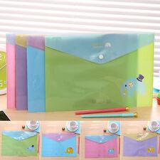 1Pc A4 PVC Bag Document Bag Paper School Office Supplies Clear File Folder Bags