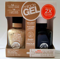 Sally Hansen Miracle Gel Color Polish 580 For TheThrill & Gel Top Coat Step2 Set