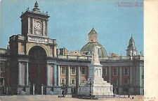 B2496 Italy Napoli Piaza e monumento a Dante not used 1900  front/back scan