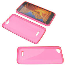 Case for Wiko Rainbow Cell Phone Pocket Cases TPU Rubber Pink Transparent
