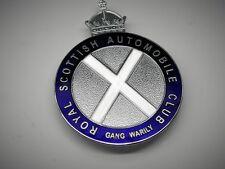 Escocia plaquita Scotland badge RSAC club jaguar Triumph morgan mini Bristol