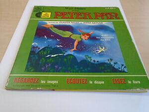 45 tours livre disque walt disney presente peter pan raconte par CLAUDE NICOT