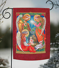 New Toland - Brightly Shining - Christmas Angel Nativity Jesus Birth Garden Flag