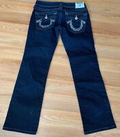 True Religion Sequins Embellished Blue Denim Jeans Billy Womens 30x29 PO#70882