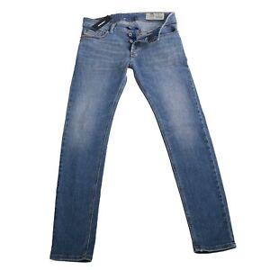 DIESEL Herren Stretch Denim Jeans Hose SLEENKER Blau 086AP 2. Wahl Größe 30/30