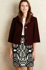 Anthropologie Boucle Swing Jacket by Raoul for Made in Kind Maroon Size 14 $275