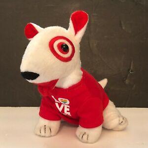 Target Bullseye Dog Plush Bull Terrier Love is Love Red Shirt Edition 1