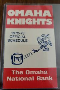 1972-73 Omaha Knights CHL Hockey  pocket schedule central league Rare