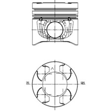 Piston - Kolbenschmidt 40272600
