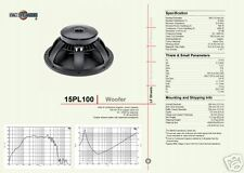 B&C 15PL100 1400W WOOFER SPEAKER FS=37HZ!!!