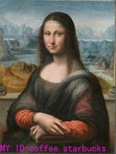 """Art Repro oil painting:""""Mona Lisa Portrait at canvas"""" 24x36 Inch"""