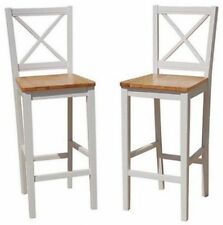 Bar Stools 30-inches With Back Wood Counter Height Chairs Kitchen Bar Furniture