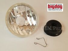 Big Dog Motorcycles OEM Headlight Glass - 5-3/4 (2000-11) K9, Mastiff, Ridgeback