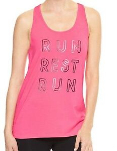 NWT Gap Fit Graphic Racer Tank XL Size T Shirt Top Pink Msrp $24.99