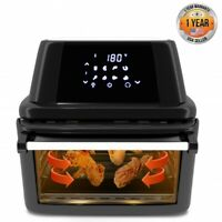 NutriChef PKAIRFR96 Air Fryer Oven Dehydrator Rotisserie, 1800W High Power