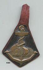 Insigne troupes coloniales, Rgt. Colonial de Chasseurs de Chars  , (  sur cuir )