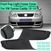 Pair Front Fog Light Lamps Frame Cover Trim For VW Touran Caddy 2010-2014