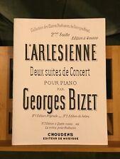 Georges Bizet L'Arlésienne 2e suite partition piano 4 mains éditions Choudens