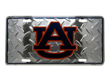 "Auburn AU Tigers Football Diamond Deck 6""x12"" Aluminum License Plate Tag"