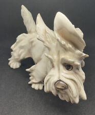 Vintage Guido Cacciapuoti Miniature Schnauzer Dog C.1920 Detailed Figurine